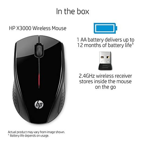 Hp Mouse X3000 Wireless hp x3000 wireless mouse black h2c22aa abl import it all