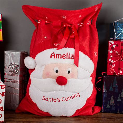 personalised christmas santa sack gettingpersonal co uk
