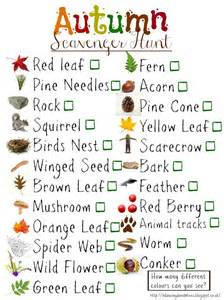 scavenger hunt checklist template dandelions free downloadable autumn scavenger
