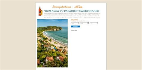 Tommy Bahama Sweepstakes - tommy bahama rum away to paradise sweepstakes