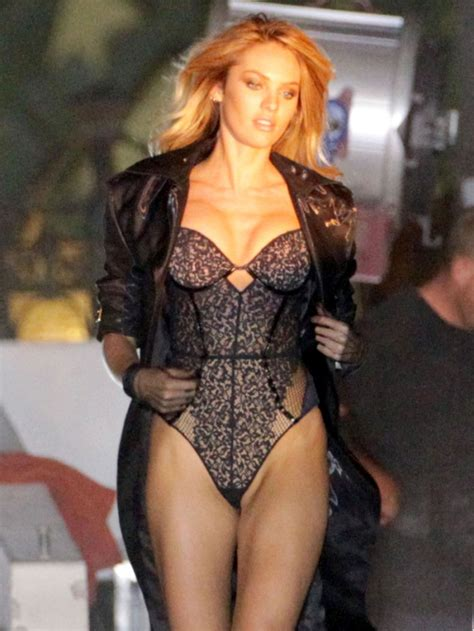 Candice Set candice swanepoel on the set of s secret commercial in la celebzz celebzz
