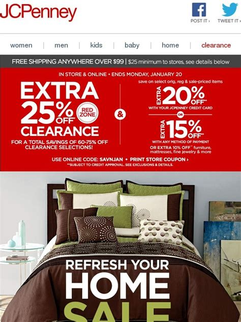jc penney home sale serious redecorating plus