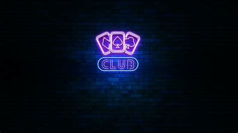 neon wall light signs animation of club neon light sign with cards shape