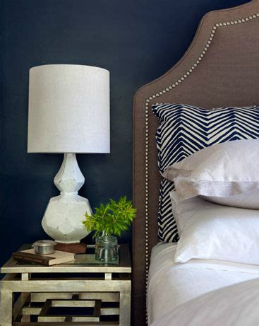 stunning bedroom with navy blue walls paint color west elm terracotta table l antique
