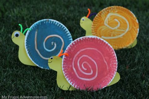 Paper Plate Snail Craft - easy children s craft swirling snail my frugal