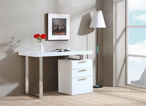 vienna modern office desk in white gloss by j m