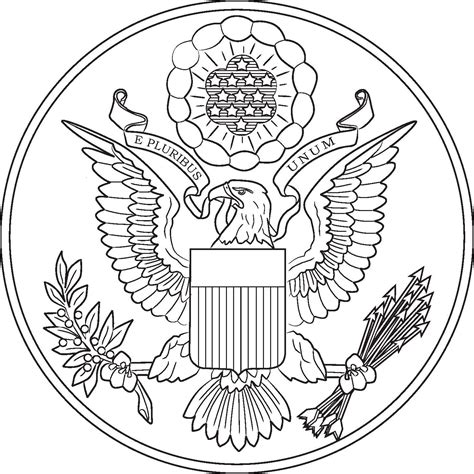 Great Seal Of The United States Coloring Page cicero