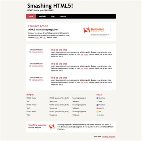 page template code coding an html 5 layout from scratch smashing magazine