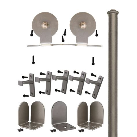 American Pro Decor Stainless Steel 304 Grade Sliding Rolling Barn Door Hardware Kit