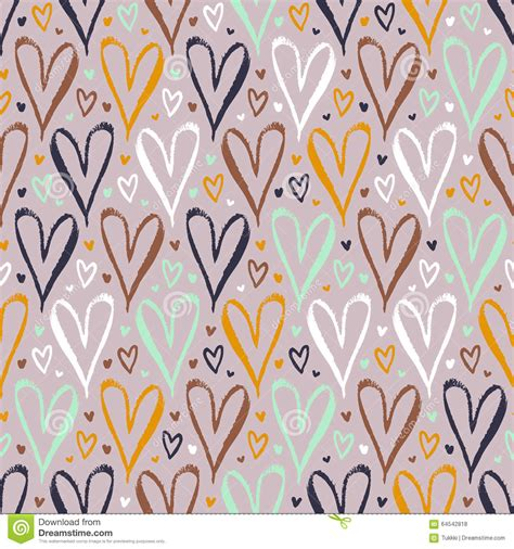pattern or event in nature that is always true pattern with hand drawn hearts stock vector image 64542818