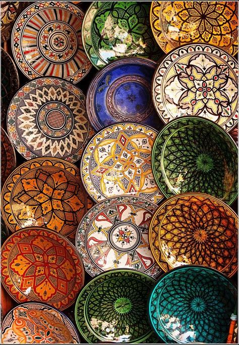 morrocan design moroccan hand painted plates art pinterest hand
