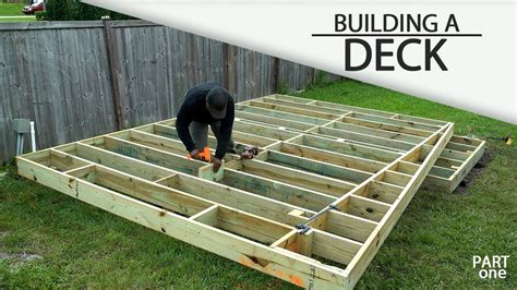 building  ground level deck part  youtube