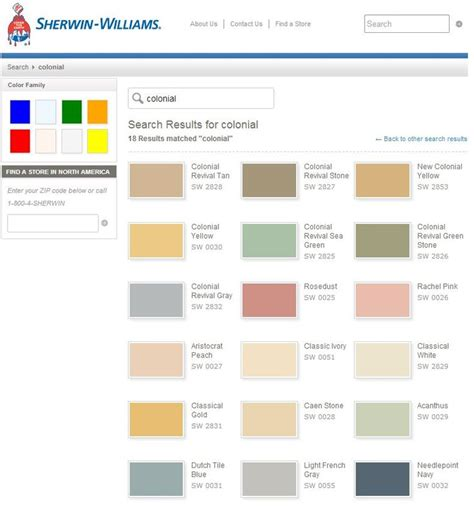 colonial paint colors for the home