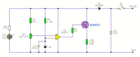 how to build a solar battery charger 12v solar battery charger power supply circuit circuit