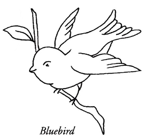 Blue Crane Bird Coloring Pages Coloring Pages Bluebird Coloring Page