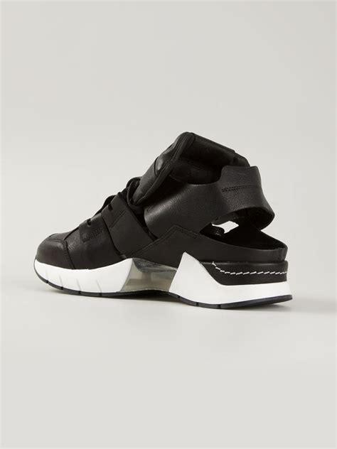 open sneakers cinzia araia open sneakers in black lyst