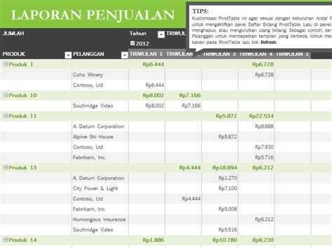 Pivot Table Excel Template by Belajar Excel Template Excel Pivot Table