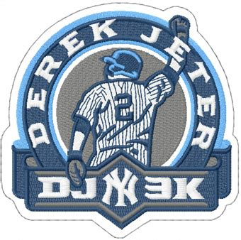 design a logo patch jeter derek ny patch logo machine embroidery design