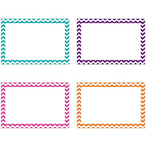 card borders border index cards 4x6 blank 75ct chevron top3553 top