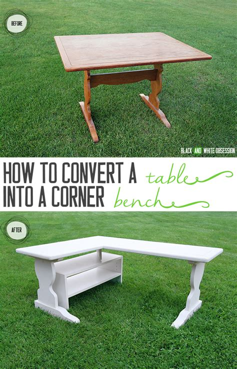 convert a bench black and white obsession how to convert a table into a