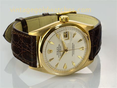 rolex oyster perpetual datejust 1956 vintage gold watches
