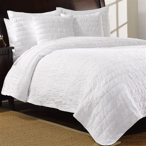 White Cotton Quilt by Hill Home Revel Cotton Quilt Set King Save 67