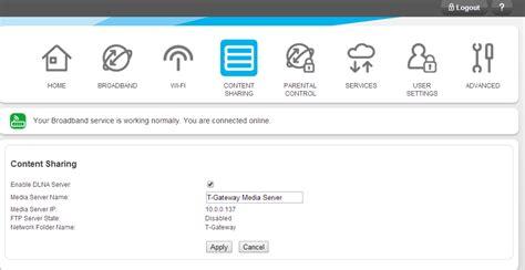 Telstra Gateway Max Tg799 Content Sharing Dlna S
