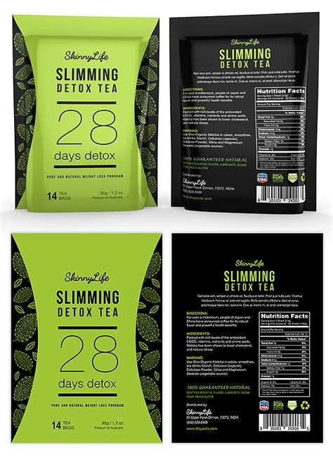 Label Detox Tea Usa by Slimming Detox Tea Label Template