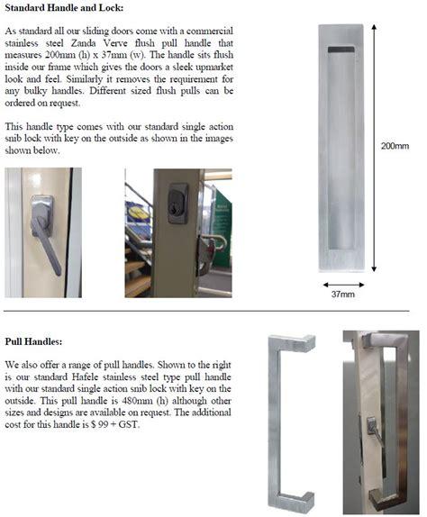 door latch options sliding door handle options nuline windows