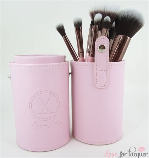 Luxie Pink Perfection Brush Holder luxie lush pink perfection synthetic makeup brush