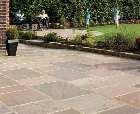 Indian Sandstone Paving Buff Multi Garden Pinterest Indian Patio Design
