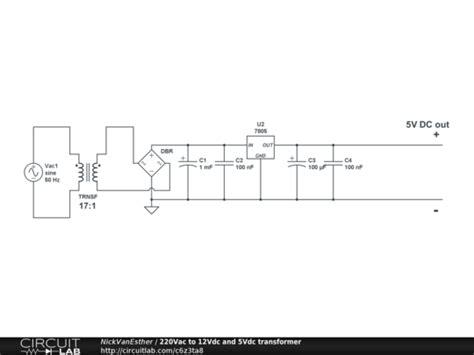 12vdc to 12vac converter circuit diagram 220vac to 12vdc and 5vdc transformer circuitlab
