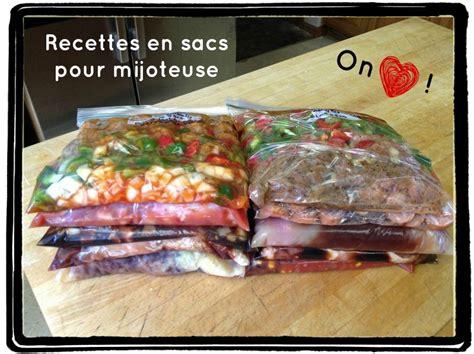 congeler des plats cuisin駸 recettes en sacs pour mijoteuse c est 231 a la vie