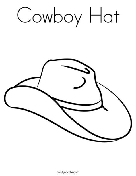 Cowboy Hat Coloring Page Twisty Noodle Usa Hat Coloring Pages Usa