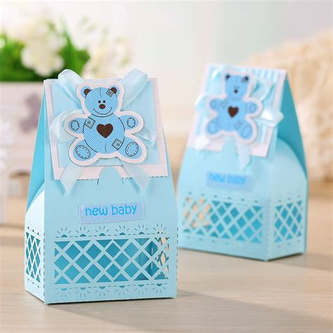 baby shower favor gift ideas pink and blue baby favors boxes baptism bombonieres