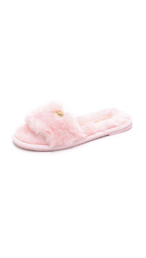 mk house shoes michael kors faux fur slippers 28 images 29 michael kors shoes michael kors faux
