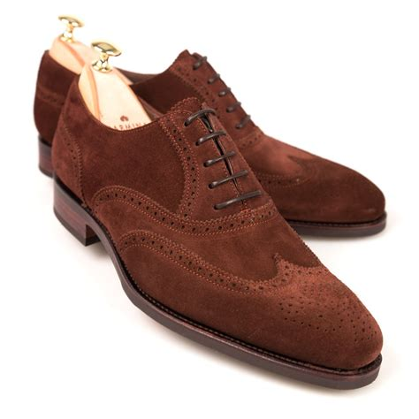 Suede Flat Shoes Polos wingtip oxford shoes carmina