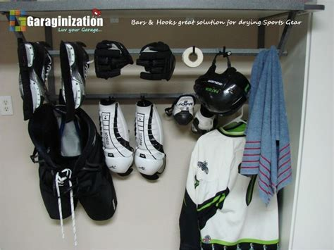 Hockey Equipment Storage Rack by Hockey Gear Garage Storage Garage Organization