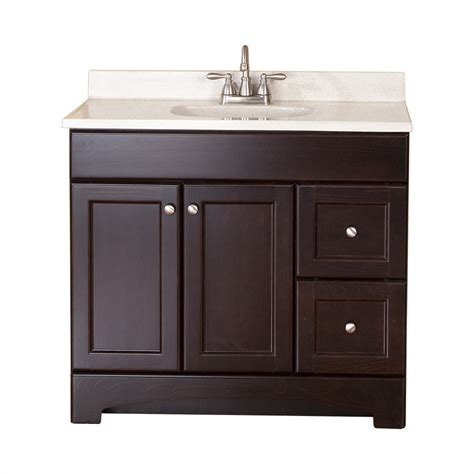 36 in bathroom vanity with top shop style selections clementon cocoa integral single sink