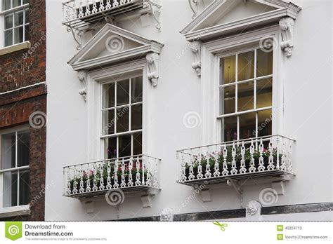 Tudor Style Windows Decorating Tudor Style Decor White Windows Stock Photo Image 40224713