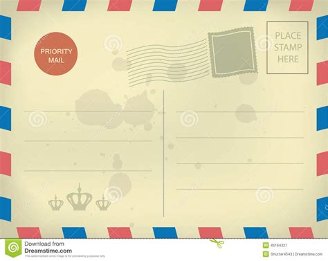 9 best images of airmail postcard template airmail