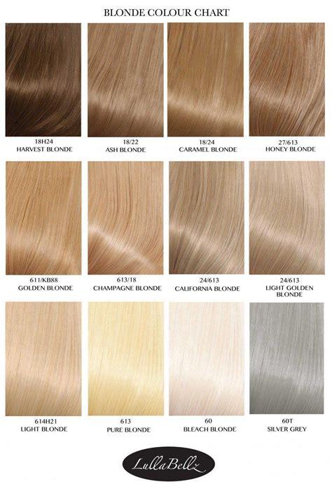 blonde colours chart blonde colour chart lullabellz