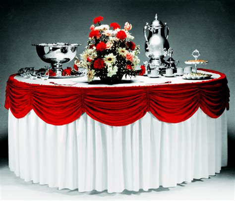 Picture Suggestion For Buffet Table Skirting Designs Buffet Table Skirting
