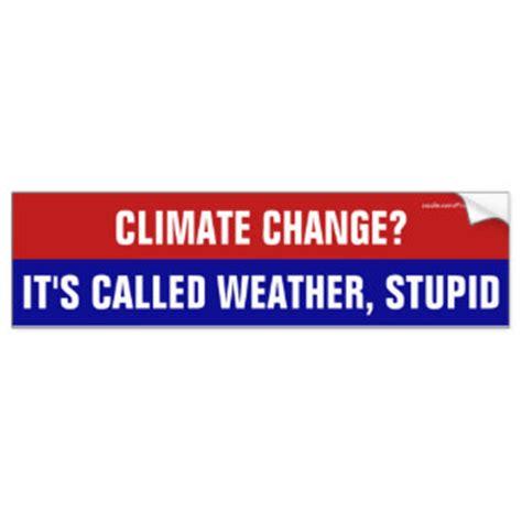 Climate Change Bumper Sticker