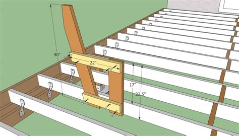 patio plans free deck bench plans free howtospecialist how to build