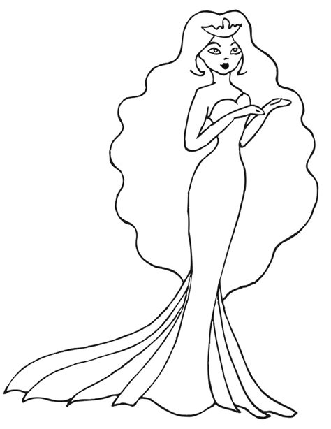 Beautiful Princess Coloring Pages princess coloring page beautiful princess in gown