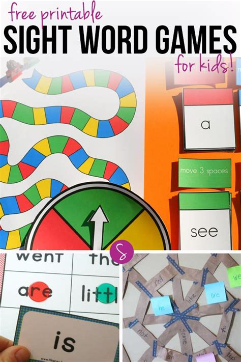 printable literacy word games free printable sight word games to help your child learn