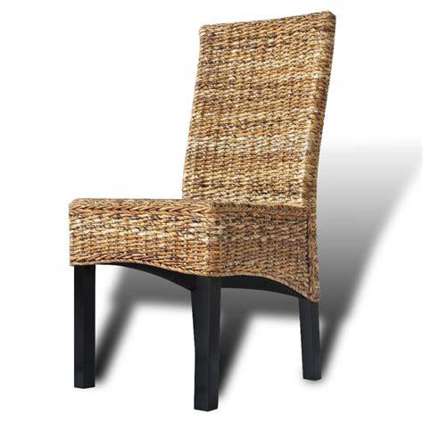 Abaca Dining Chairs Vidaxl Dining Chairs 4 Pcs Abaca Brown Vidaxl Co Uk