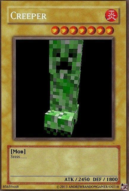 how to make yu gi oh cards yu gi oh creeper card minecraft