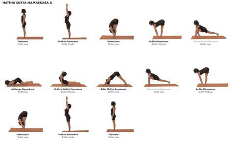 printable hatha yoga poses yoga poses asana hattha sun salutation a yoga